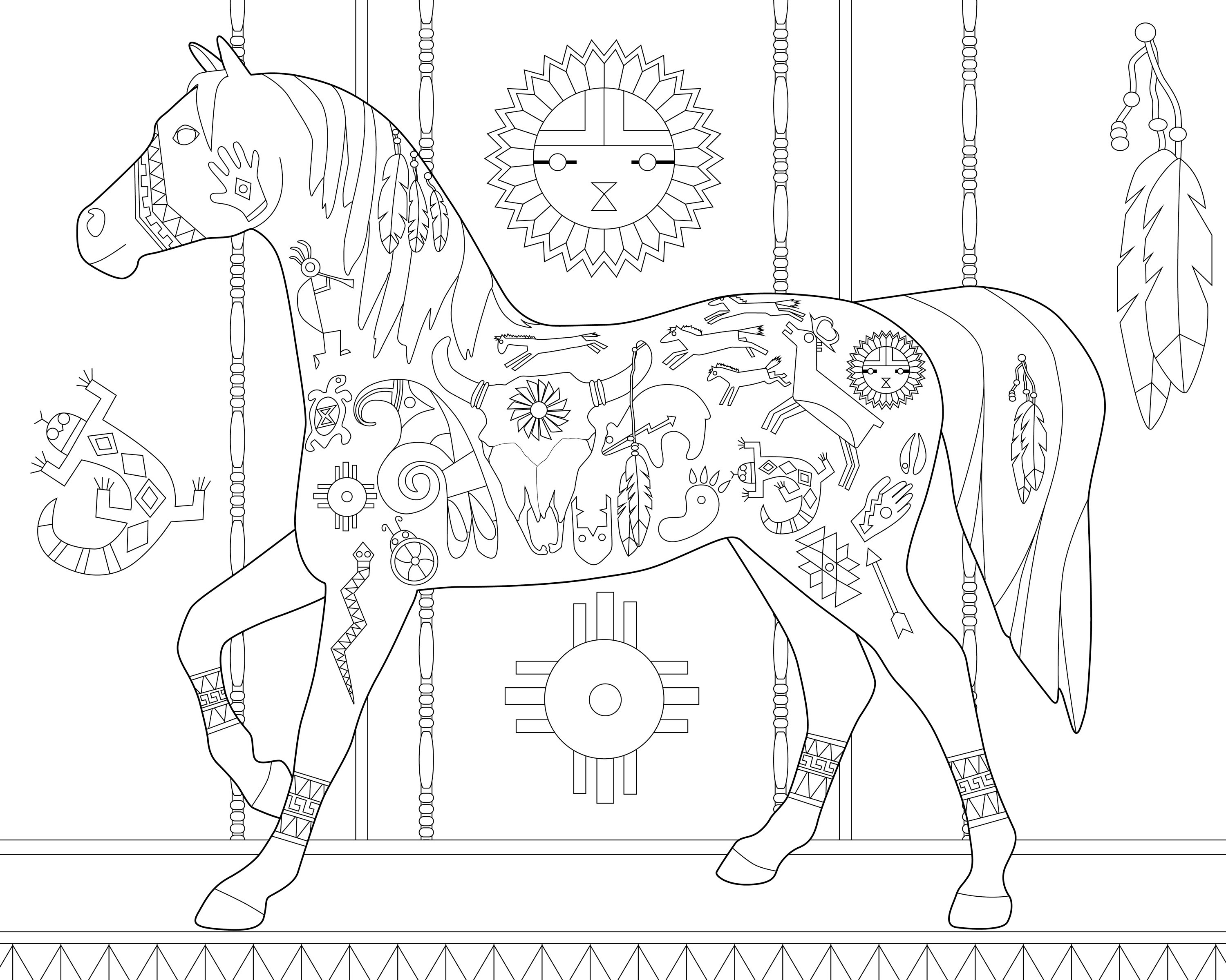 more views - Native American Coloring Book