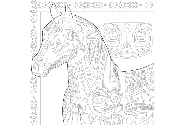 - The Trail Of Painted Ponies - The Trail Of Painted Ponies Adult Coloring  Book - Native American Edition - Mothers - Gift Guide